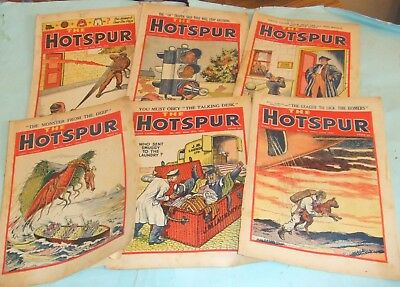 The Hotspur - Six Issues 1949 Nos 668 / 669 / 670 / 671 / 697 / 702.