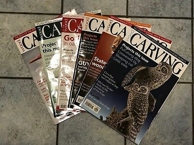 Wood Carving Magazine, 6 Issues, 2013