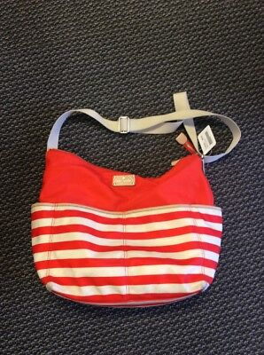 Red And White Striped Kate Spade Diaper Bag USED