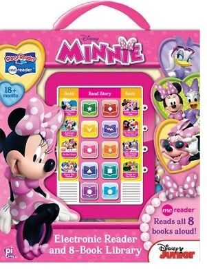 MINNIE MOUSE ELECTRONIC ME READER ACTIVITY PAD and 8 BOOK LIBRARY
