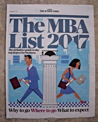 The MBA List - Guide to the top degree for business - Times Newspaper Supplement