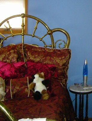 Antique, tween bed, brass, gold leaf, masterpiece. Collectables. 1800 time