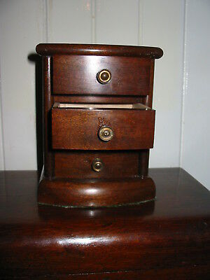 Apprentices Miniature Victorian/edwardian Chest Of Draws 16Cms High,original.