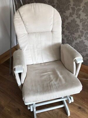 Breast Feeding Chair Mothercare natural reclining glider beige cushions