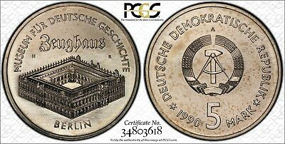 East Germany 1990-A 5 Mark, Zeughaus Museum, PCGS MS68