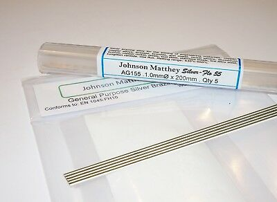 SILVER BRAZING SOLDER & FLUX KIT - 55% silver. Just add heat! 5 x 200mm rods