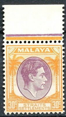 Straits Settlements 1937, SG 287, 30c Purple/Orange, Never Hinged, CV £20