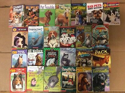 Lot of 24 Animal Pets Dog Cat Horse Puppy Ark Chapter Series Set Kids Books #F28