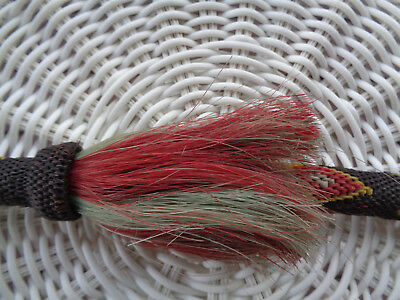 Collectible Vintage MULTI COLOR HITCHED HORSEHAIR HORSE RIDING QUIRT CROP ~ NICE