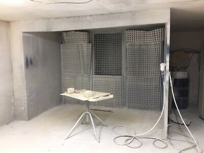 Commercial Spray Booth With Fan Extraction