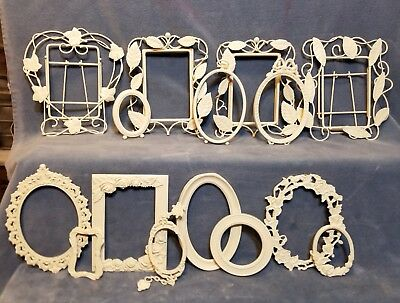 Lot of 15 Vintage Rustic Painted Metal Picture Frames
