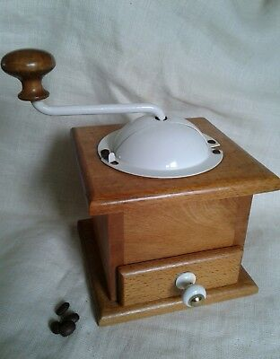Vintage French Wooden Coffee Grinder