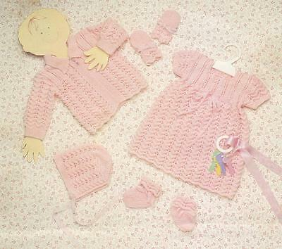 BABY LAYETTE birth to 6 months / 3ply - COPY baby knitting pattern