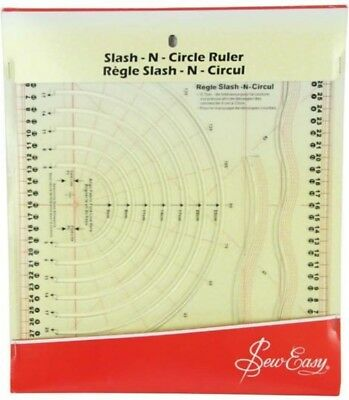 Sew Easy Slash N Circle Ruler Cutting Perfect Circles Curves From 5Cm To 23Cm B