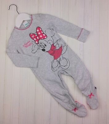 Baby Girls DISNEY MINNIE MOUSE Sleepsuit All In One Romper Outfit 6-9 Months VGC