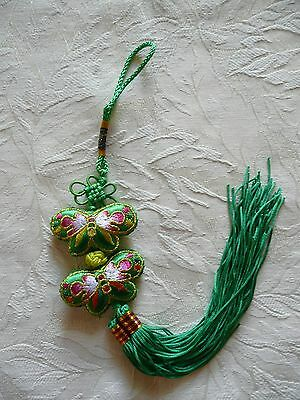 Double Butterfly Chinese lucky/safe/Happiness Tassel