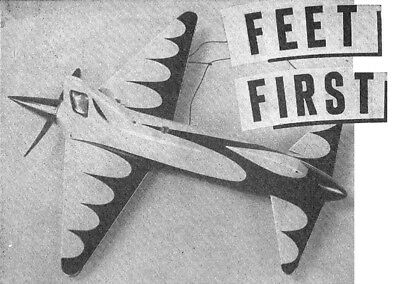 """Model Airplane Plans (UC): FEET FIRST Canard 24"""" Pusher .60 Speed (Musciano)"""