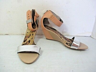 cc40313cd0bc Women s Shoes - SAM EDELMAN Sophie 2 Tone Leather Halter Ankle Strap Wedge  8M