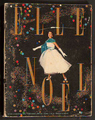 'elle' French Vintage Magazine Christmas Issue 5 December 1955