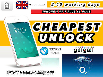 Iphone 6 6S  6 Plus 6S Plus Unlock Service For O2 Uk/tesco Uk  Permanent