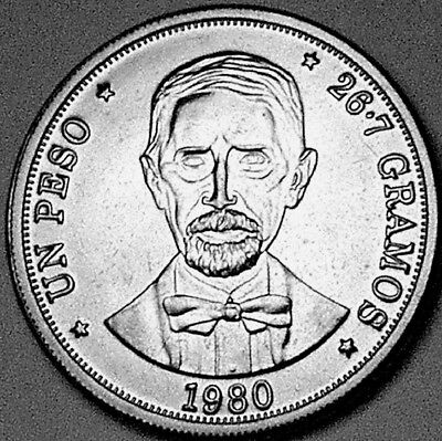 Dominican Republic 1980 1 Peso    GEM PROOF