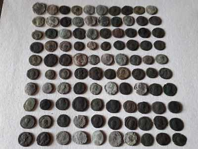 BEAUTIFUL LOT OF 100 ANCIENT BRONZE ROMAN COINS Ae4  FOR CLEANED