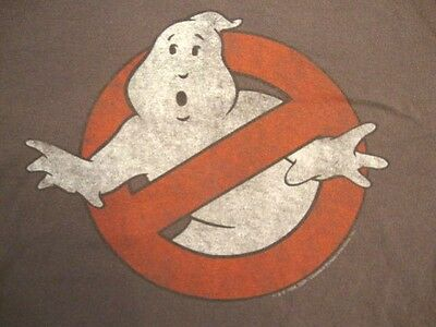 No Ghost Logo Ghostbusters Movie Simply Plain T Shirt L