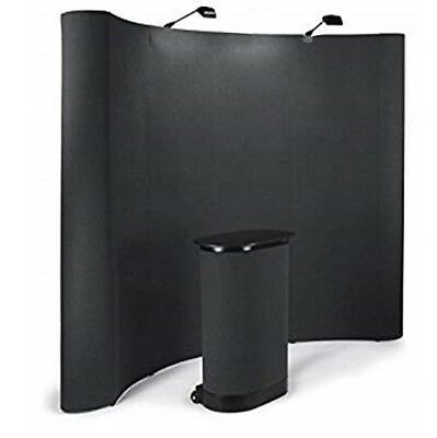 10 ' Tradeshow display booth with all accessories with black carpet panels and l