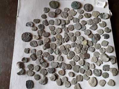 Lot Of 150 Ancient Bronze Roman Coins  Uncleaned Low Quality
