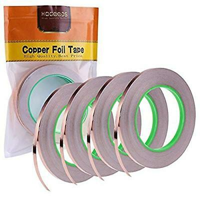 4 Pack Copper Foil Tape with Conductive Adhesive for EMI Shielding, Slug Paper