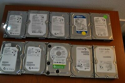 "LOT OF 10 SATA 500GB 3.5"" Desktop Hard Drives Major Brands *Tested and Working*"