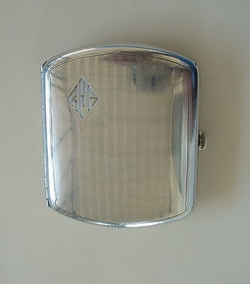 Vintage Sterling Silver Cigarette Case Wallace Hallmarked