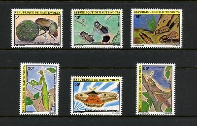 Burkina Faso 1981 #554-9 butterflies insects beetles 6v. MNH L209