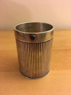100% Authentic Cartier Silver-plated Glass Cup