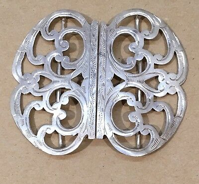 Antique Sterling Silver Nurses Buckle Hallmarked Saunders & Shepherd 1900 Vgc