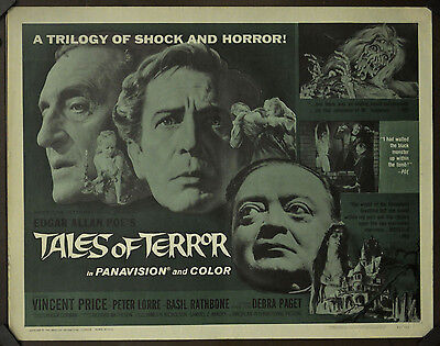 Tales Of Terror 1962 Orig Movie Poster 22X28 Rolled Vincent Price Roger Corman