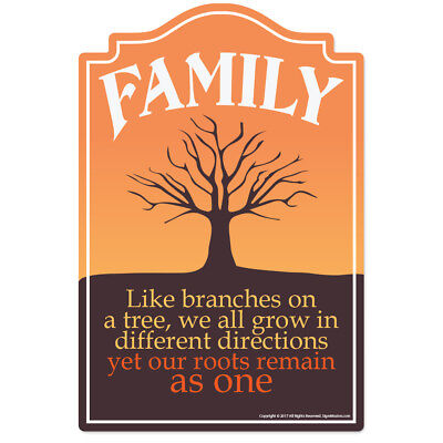 Family Novelty Sign   Funny Home Décor Garage Wall Lover Plastic Gag Gift