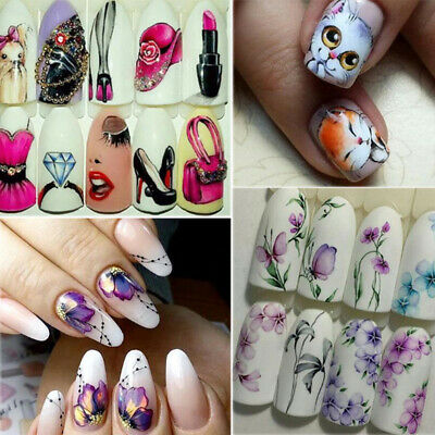Fashion 3D Christmas Nail Art Transfer Decals Nail Stickers DIY Women Decoration