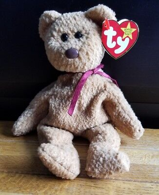 Ty Curly Beanie Baby   Tag Errors   Suface and Origiinal