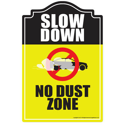 No Dust Zone Novelty Sign   Funny Home Décor Garage Wall Lover Plastic Gag Gift