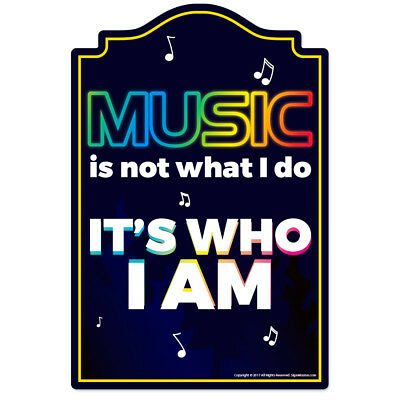 Music Novelty Sign   Funny Home Décor Garage Wall Lover Plastic Gag Gift
