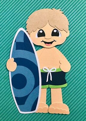 Fully assembled Surfer Boy (light hair) paper piecing / die cut