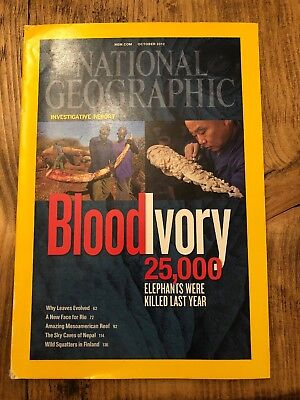 national geographic, October 2012, Blood Ivory Edition, Inc Map