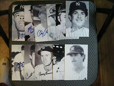 New York Yankees Baseball Vintage Lot Of (20) Different Player Signed Postcards