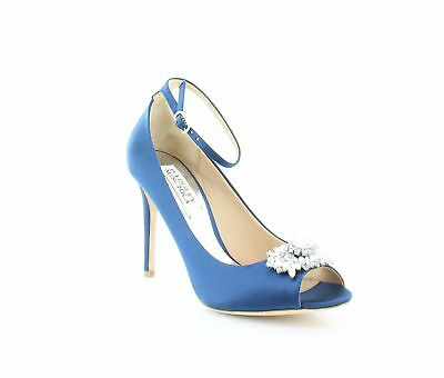 Badgley Mischka New Kali Blue Womens Shoes Size 6.5 M Heels MSRP $225
