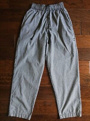 Chef Works Unisex Checkered Baggy Chef Pants Size Medium