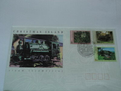 Christmas island FDC first day cover 1994 Steam Locomotives