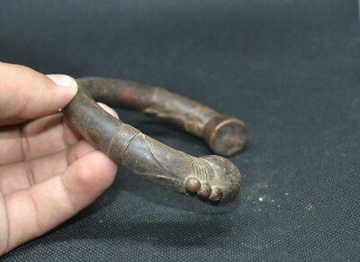 Extremely Ancient VIKING BRONZE Bracelet Solid Artifact Museum Very Stunning