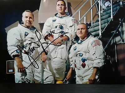 Jim Lovell  Authentic Hand Signed 4X6 Photo - NASA ASTRONAUT - APOLLO 13 & 8