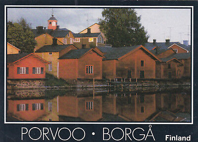 Storehouses on the River Porvoo Borga Finland Postcard Unused VGC